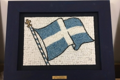 1821 Hellinic Flag 27 x 19cm