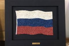 3D Russian Flag 25 x 16cm